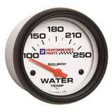 GAUGE, WATER TEMP, 2 5/8in, 100-250?F, ELECTRIC, GM PERF. WHITE