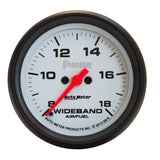 GAUGE, AIR/FUEL RATIO-WIDEBAND, ANALOG, 2 5/8in, 8:1-18:1, STEPPER MTR, PHANTOM