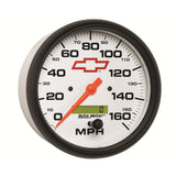 GAUGE, SPEEDOMETER, 5in, 160MPH, ELEC. PROGRAMMABLE, GM BOWTIE WHITE