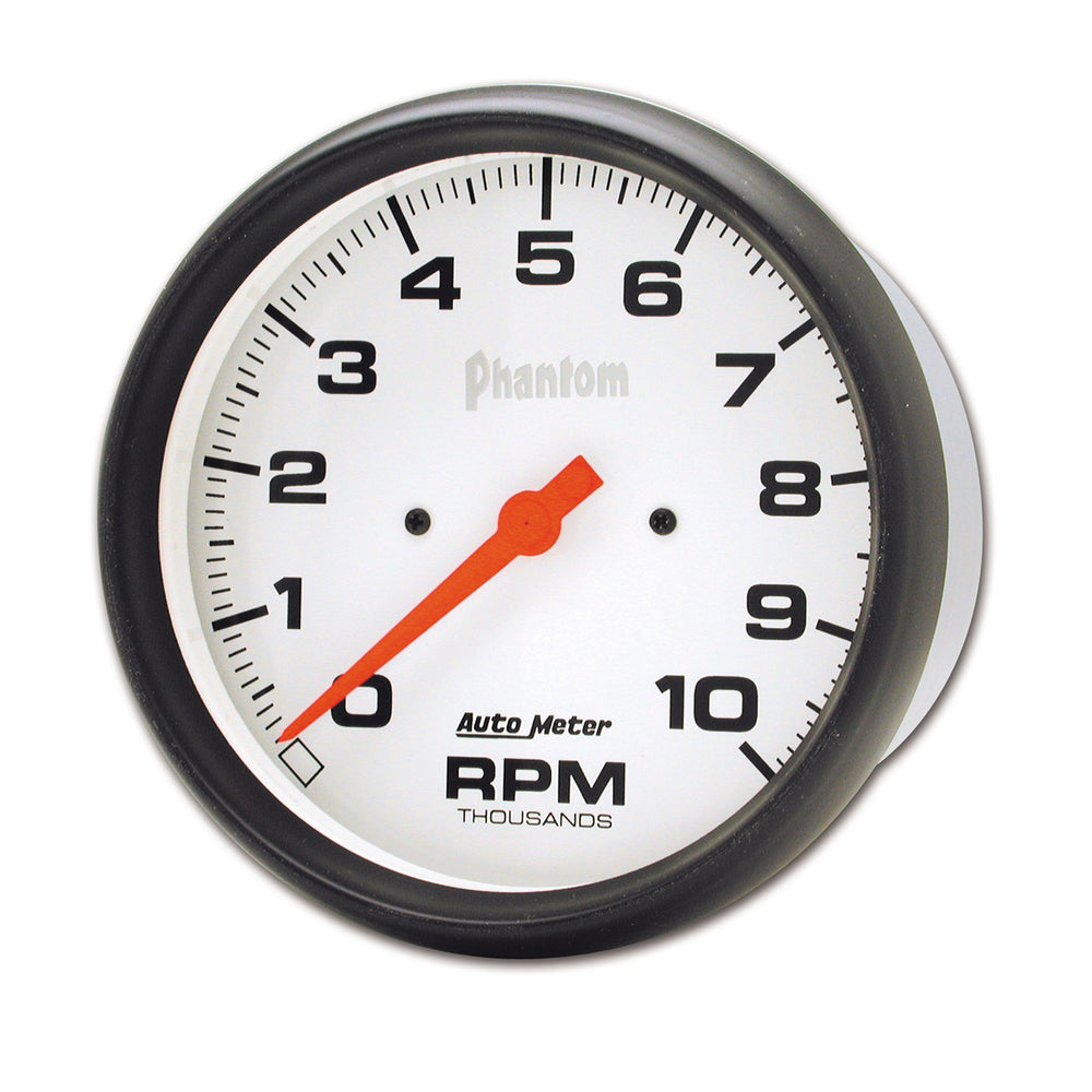 GAUGE, TACHOMETER, 5in, 10K RPM, IN-DASH, PHANTOM