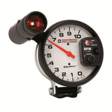 GAUGE, TACHOMETER, 5in, 10K RPM, PEDESTAL W/ EXT. SHIFT-LITE, GM PERF. WHITE