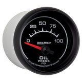 GAUGE, OIL PRESSURE, 2 1/16in, 100PSI, ELECTRIC, ES