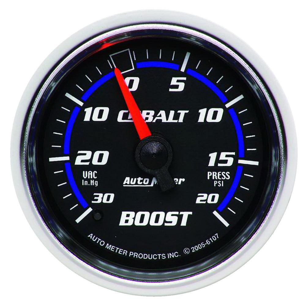 GAUGE, VAC/BOOST, 2 1/16in, 30INHG-20PSI, MECHANICAL, COBALT