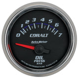 GAUGE, OIL PRESSURE, 2 1/16in, 7BAR, ELECTRIC, COBALT