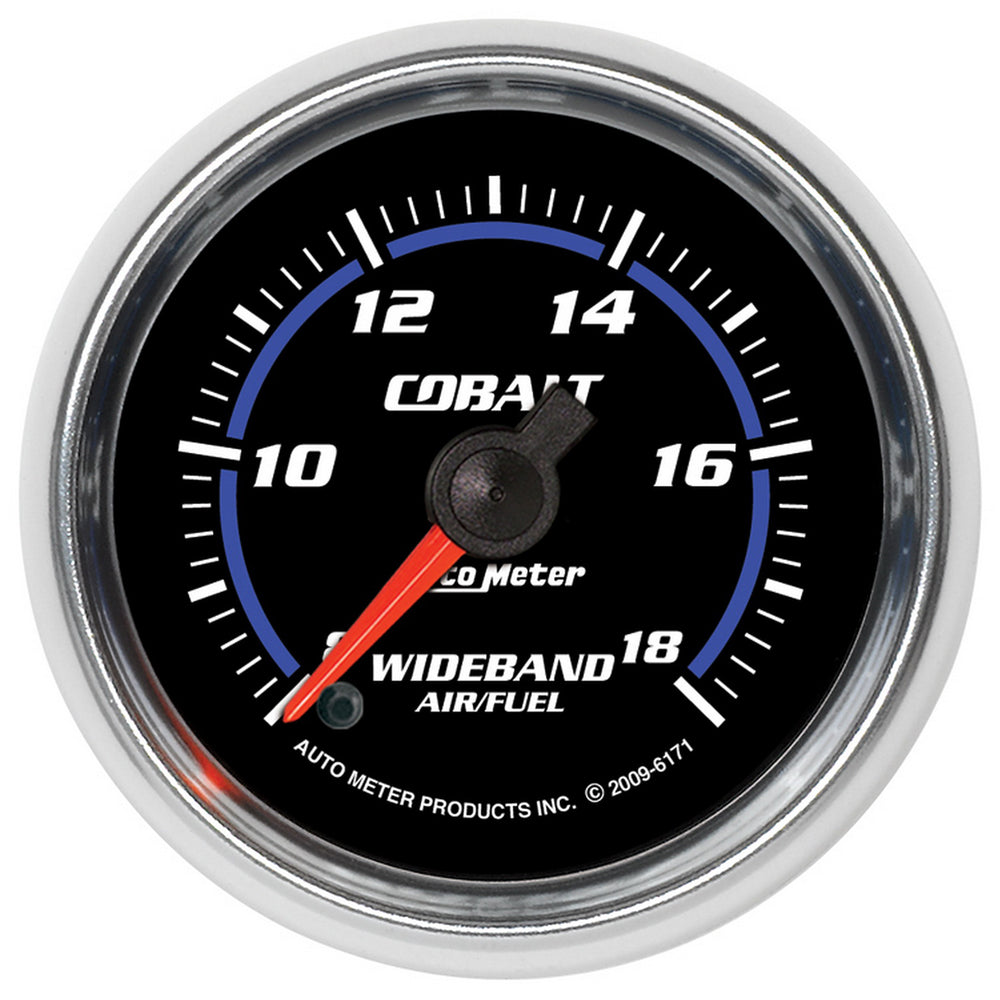 GAUGE, AIR/FUEL RATIO-WIDEBAND, ANALOG, 2 1/16in, 8:1-18:1, STEPPER MOTOR, COBALT
