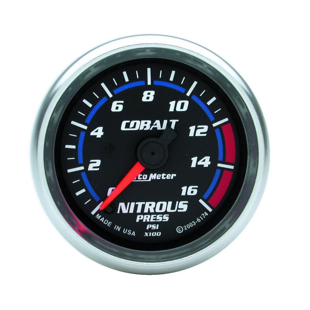 GAUGE, NITROUS PRESSURE, 2 1/16in, 1600PSI, DIGITAL STEPPER MOTOR, COBALT