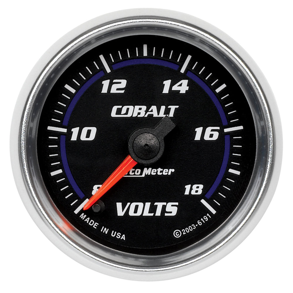 GAUGE, VOLTMETER, 2 1/16in, 18V, DIGITAL STEPPER MOTOR, COBALT