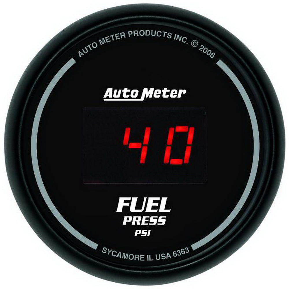 GAUGE, FUEL PRESSURE, 2 1/16in, 100PSI, DIGITAL, BLACK DIAL W/ RED LED