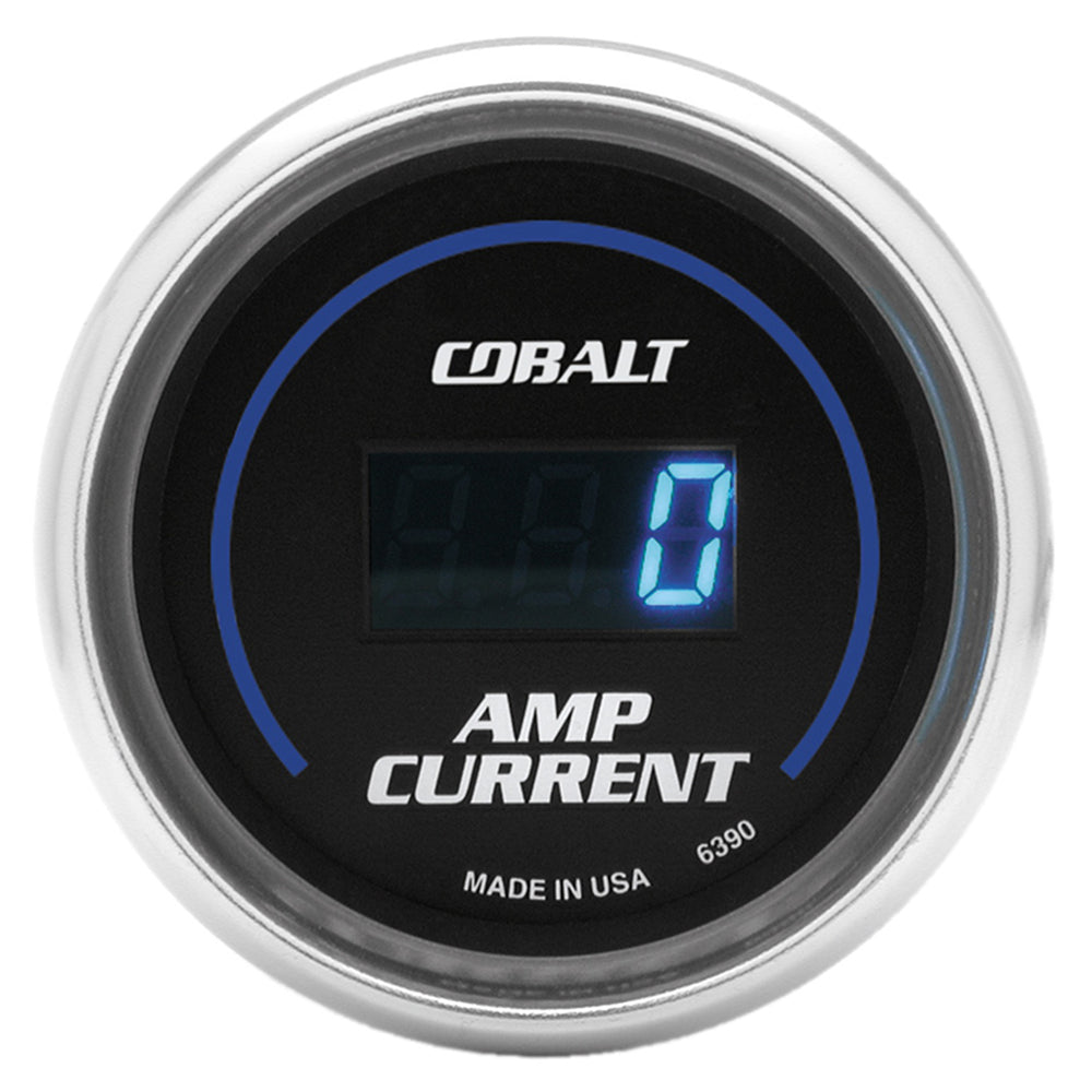 GAUGE, STEREO AMP CURRENT, 2 1/16in, 250A, DIGITAL, COBALT