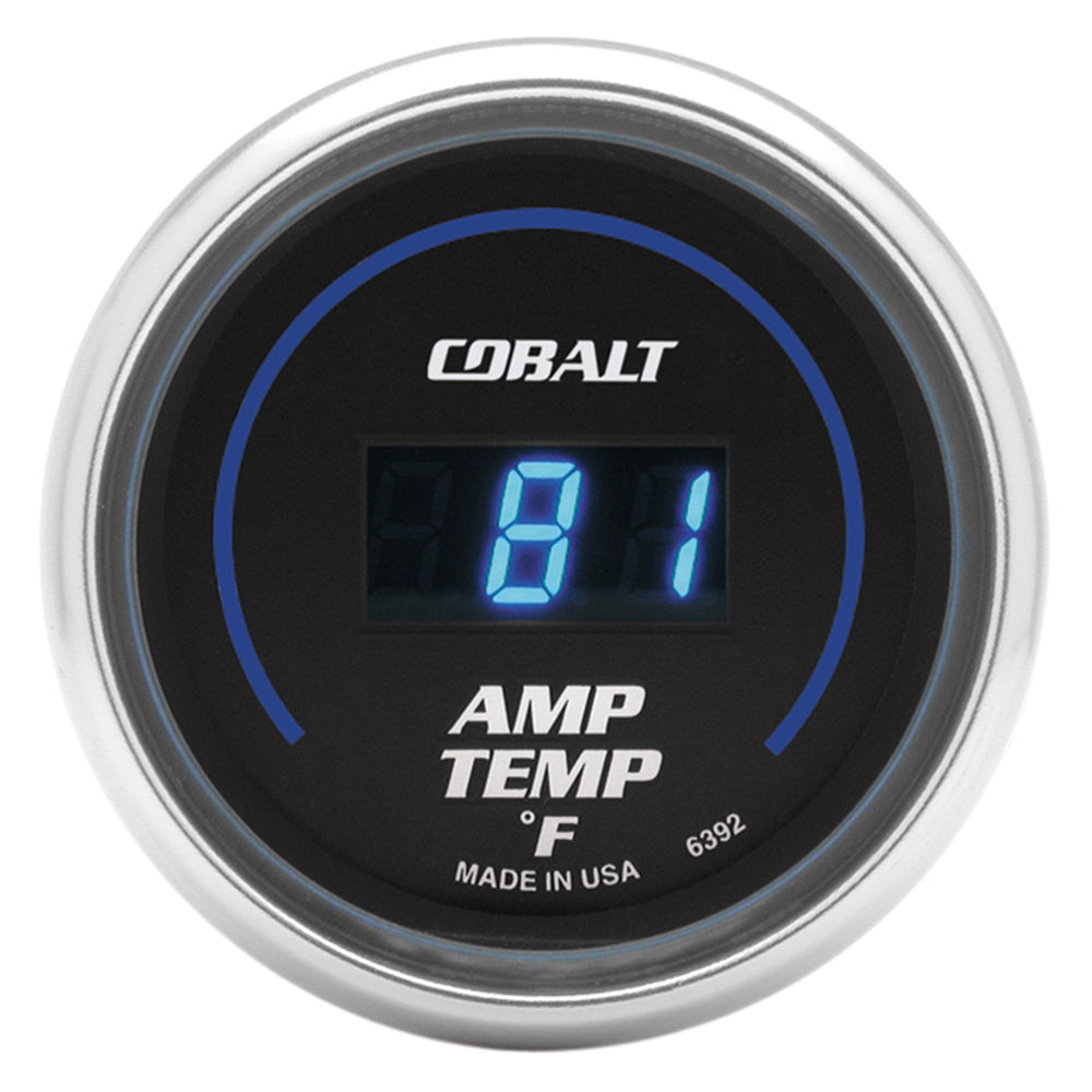 GAUGE, STEREO AMP TEMPERATURE, 2 1/16in, 250?F, DIGITAL, COBALT