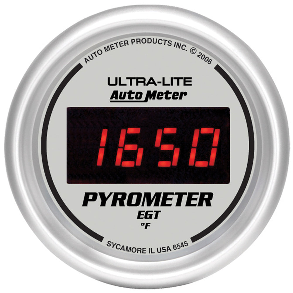 GAUGE, PYROMETER (EGT), 2 1/16in, 1600?F, DIGITAL, SILVER DIAL W/ RED LED