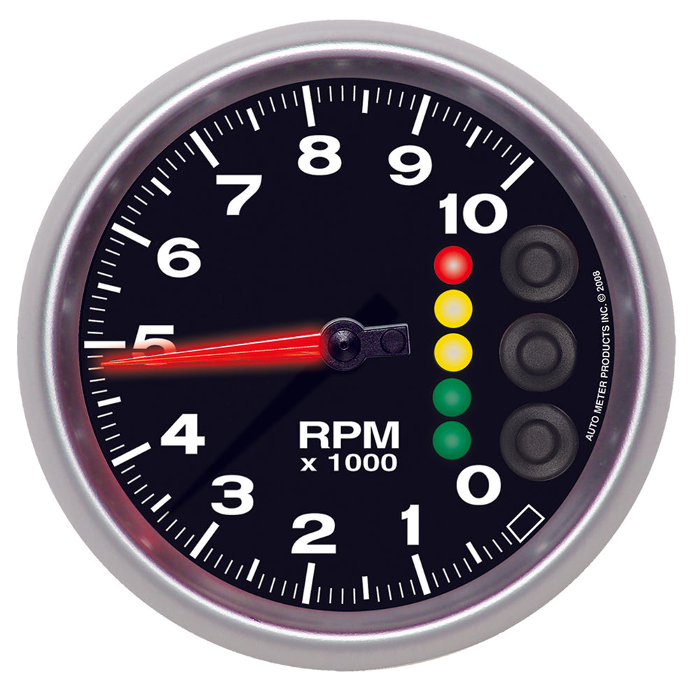 GAUGE, TACH, 5in, 10K RPM, W/PIT ROAD SPEED LIGHTS & PEAK MEM, ELITE