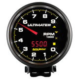 GAUGE, TACH, 5in, 9K RPM, PEDESTAL, DATALOGGING, ULTIMATE III PLAYBACK, BLACK