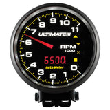 GAUGE, TACH, 5in, 11K RPM, PEDESTAL, DATALOGGING, ULTIMATE III PLAYBACK, BLACK