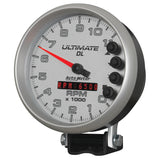 GAUGE, TACH, 5in, 11K RPM, PEDESTAL, DATALOGGING, ULTIMATE DL PLAYBACK, SILVER