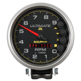 GAUGE, TACH, 5in, 9K RPM, PEDESTAL, DATALOGGING, ULTIMATE DL PLAYBACK, BLACK