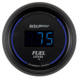 GAUGE, FUEL LEVEL, 2 1/16in, 0-280O PROGRAMMABLE, DIGITAL, BLACK DIAL W/ BLUE LED