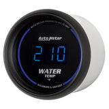 GAUGE, WATER TEMP, 2 1/16in, 340?F, DIGITAL, BLACK DIAL W/ BLUE LED