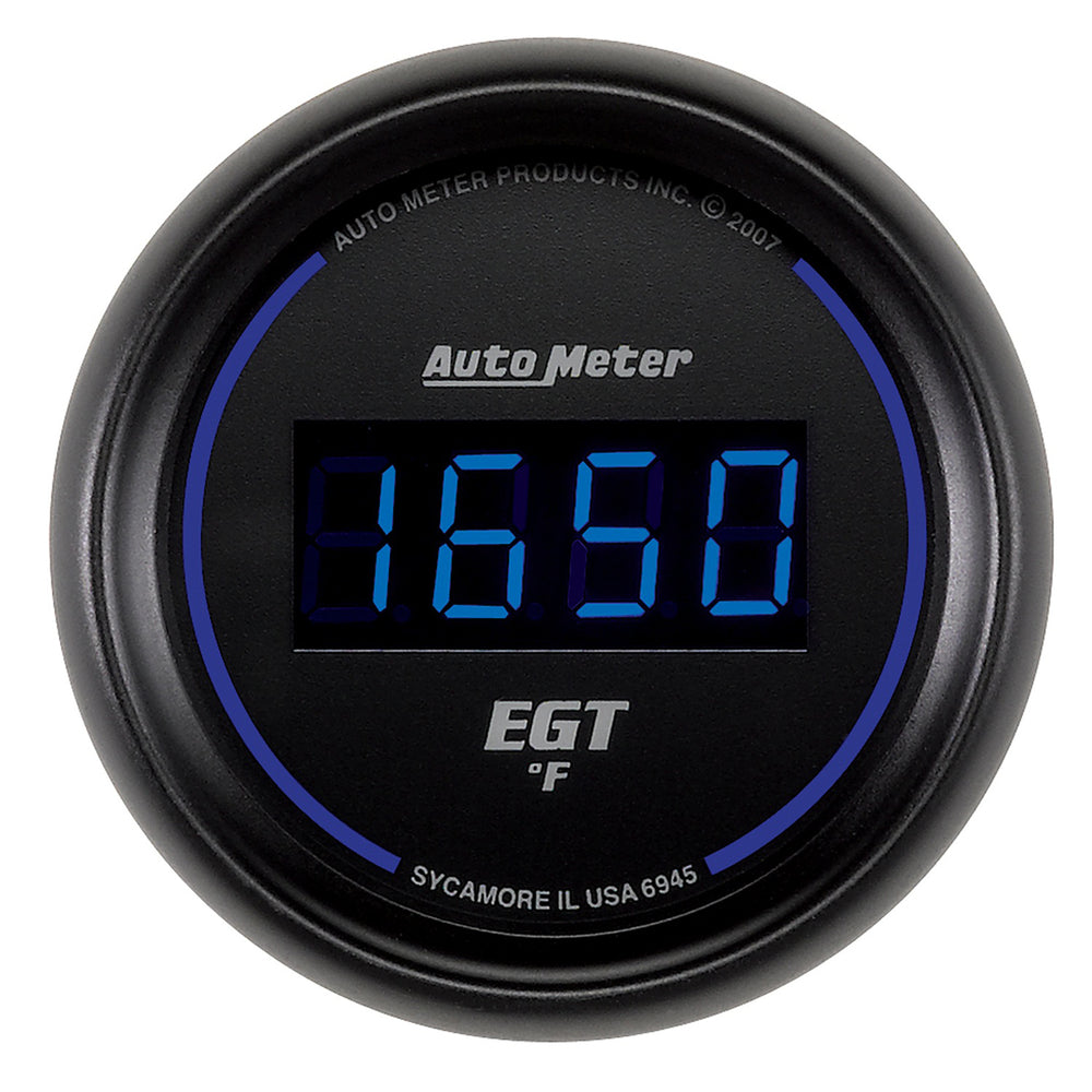 GAUGE, PYROMETER (EGT), 2 1/16in, 1600?F, DIGITAL, BLACK DIAL W/ BLUE LED