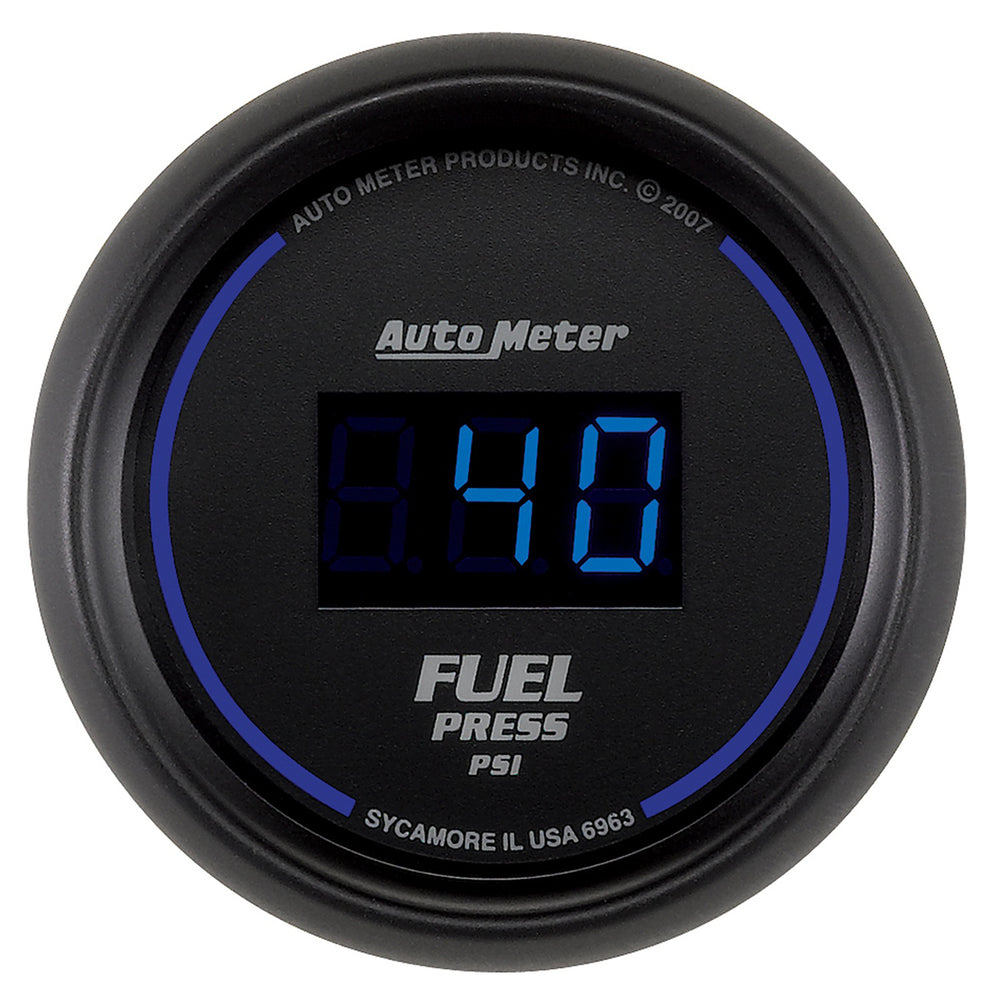 GAUGE, FUEL PRESSURE, 2 1/16in, 100PSI, DIGITAL, BLACK DIAL W/ BLUE LED