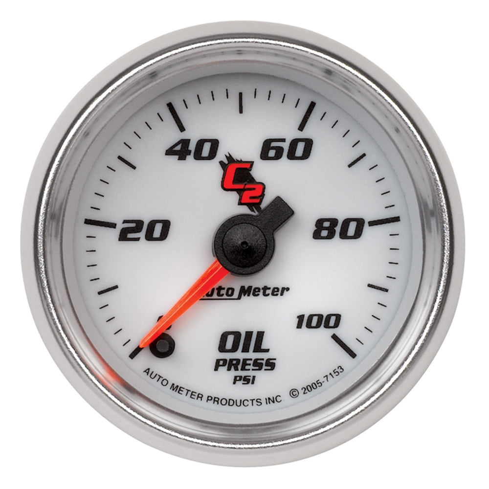 GAUGE, OIL PRESSURE, 2 1/16in, 100PSI, DIGITAL STEPPER MOTOR, C2