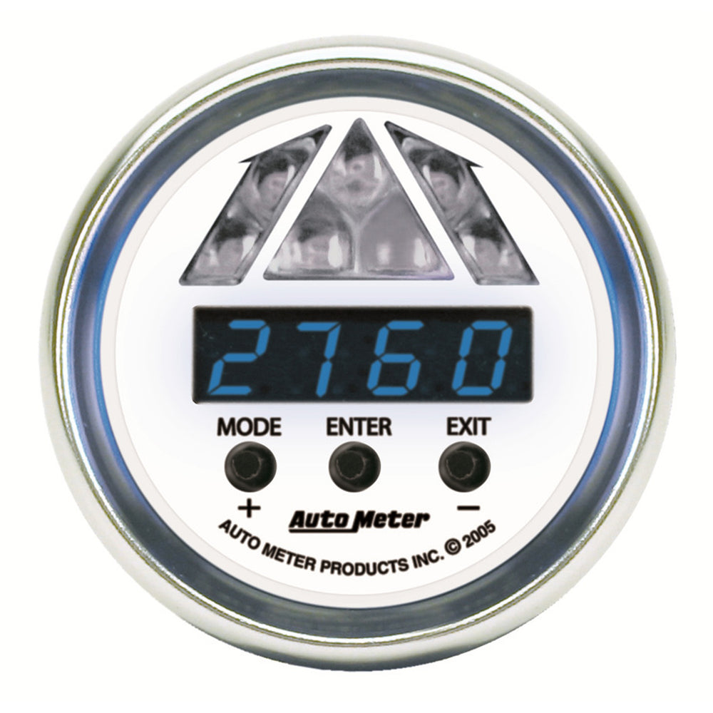 GAUGE, SHIFT LIGHT, DIGITAL RPM W/ BLUE LED LIGHT, DPSS LEVEL 1, C2