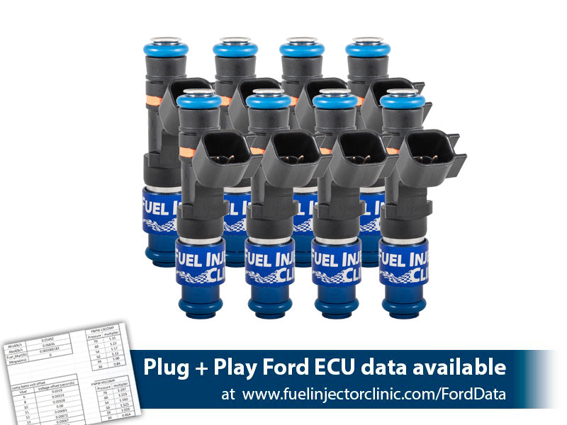 1000cc (85 lbs/hr at 43.5 PSI fuel pressure) FIC Fuel   Injector Clinic Injector Set for Ford Raptor