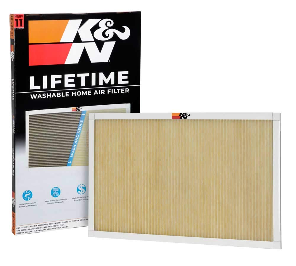 K&N Lifetime Washable HVAC Filter 20 x 30 x 1