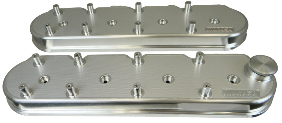VALVE COVERS, GM LS, 1.5 IN., COIL MOUNT, BILLET ALUMINUM