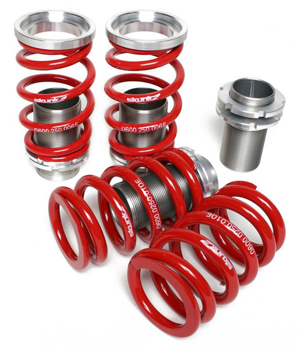 Skunk2 Adjustable Sleeve Coilovers Red 02-04 Acura RSX