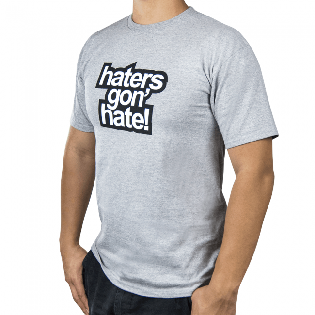 Skunk2 Haters Gon' Hate Men's T-Shirt Gray SM