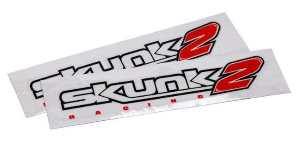 Skunk2 Decal 12 IN White (1 pc)