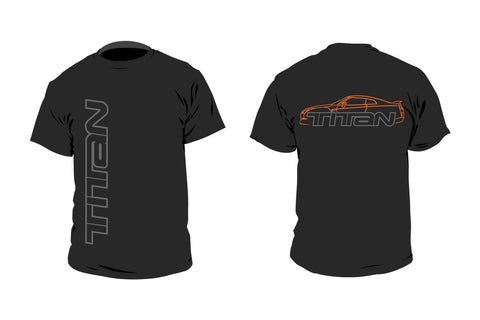 T-Shirts - Black w/ Orange GTR Sillouette