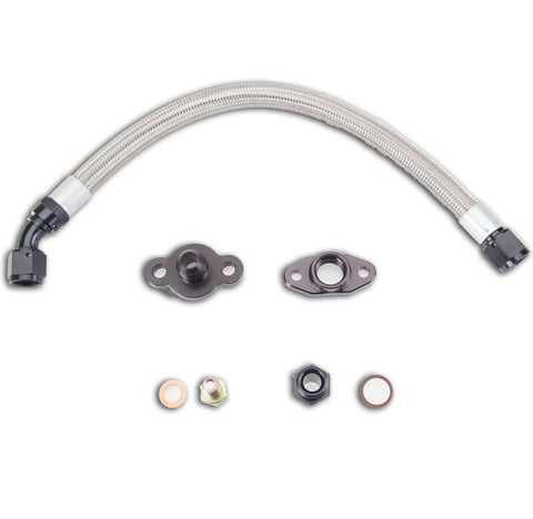 Turbo Oil Drain line kit for Garrett and T3/T4 Frame PTE Turbos
