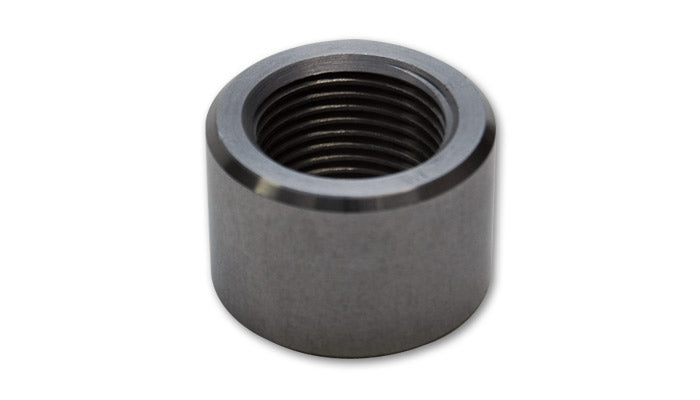 Male -20AN Steel Weld Bung (1-5/8-12 SAE Thread; 1-3/4in Flange OD)