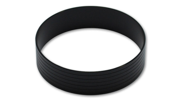 Vanjen Aluminum Union Sleeve for 3.5in OD Tubing - Hard Anodized Black