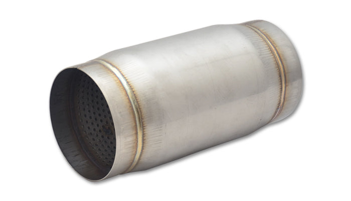 Stainless Steel Race Muffler, 4in inlet/outlet x 9in long