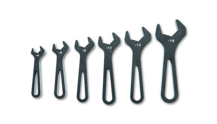 AN Wrenches, Set of six (6) - AN-4 to AN-16) - Anodized Black