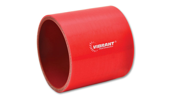 4 Ply Silicone Sleeve Coupler, 3.5in ID x 3in Long - Red
