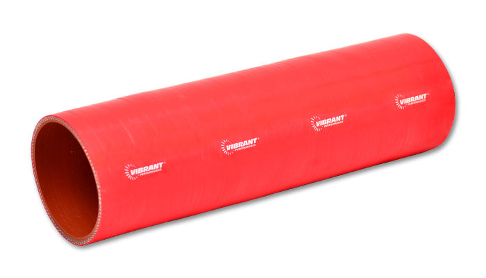 4 Ply Silicone Sleeve Coupler, 3.5in ID x 12in Long - Red