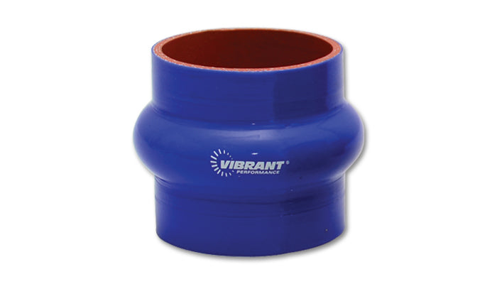 4 Ply Silicone Hump Hose Coupler, 3.5in ID x 3in Long - Blue