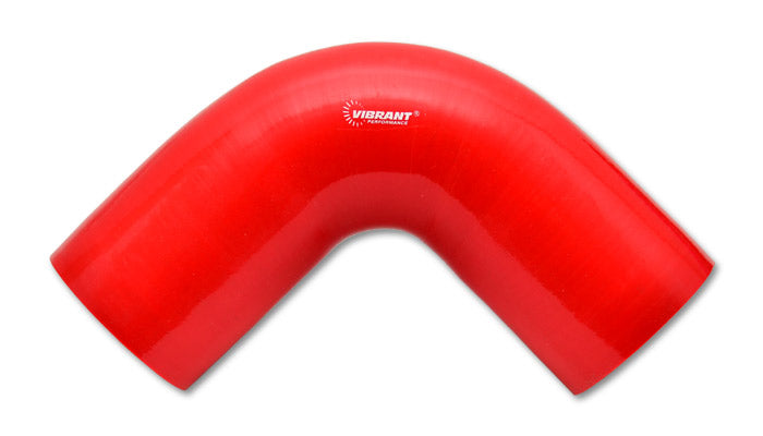 4 Ply 90 deg. Silicone Elbow Coupler, 3in ID x 4in Leg Length - Red