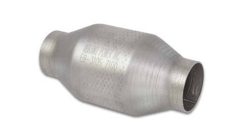 Round Metal Core Catalytic Converter, 2.25in Inlet/Outlet