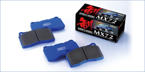 Endless MX72 Brake pads for 2020+ GR Supra Premium, Launch Edition [Rear Rotor Size 345x24]