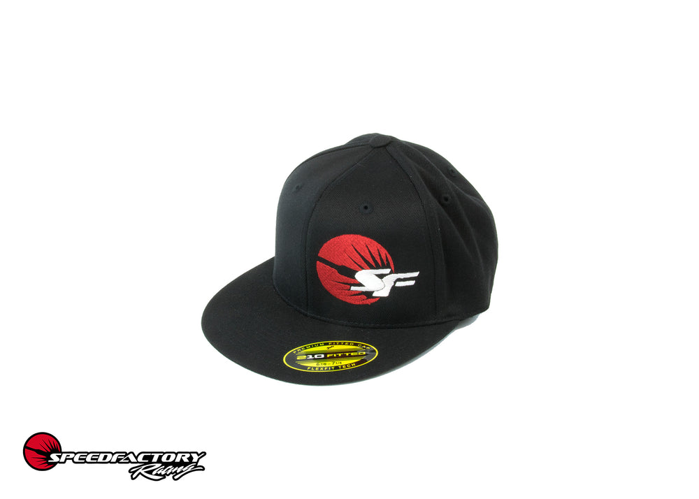 "SpeedFactory Racing ""SF"" Logo Flex Fit Hat - Curved Bill S/M"