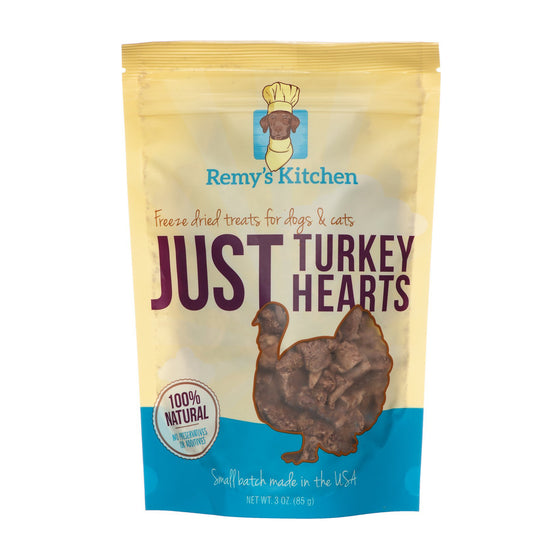 Remy's Kitchen - Freeze-dried Dog Treats - Turkey Hearts