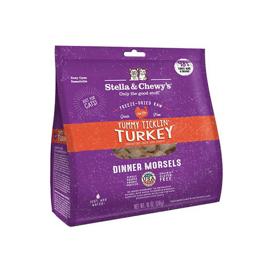Stella & Chewy's - Tummy Ticklin' Turkey Dinner Freeze-Fried Cat Food