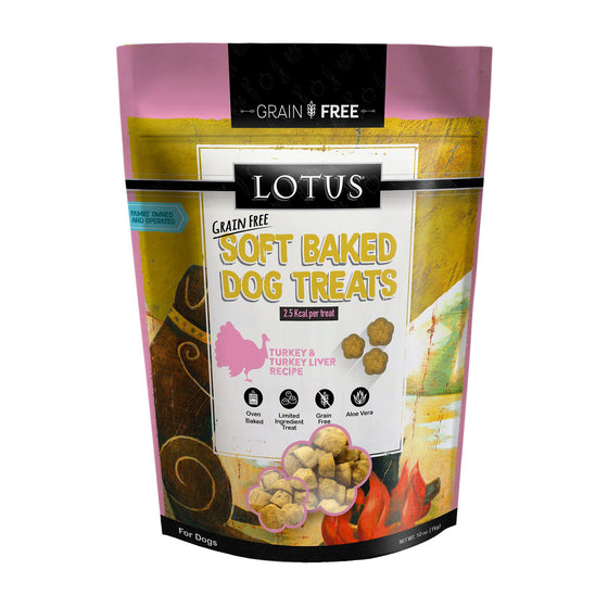Lotus Turkey & Turkey Liver Soft-Baked Treats