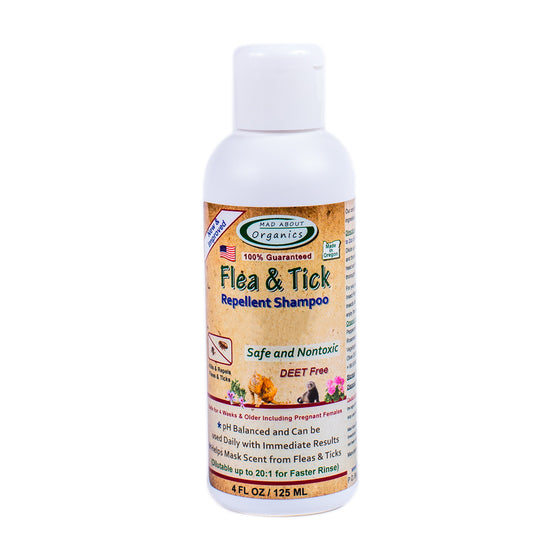 Mad About Organics - Flea & Tick Repellent Shampoo for Dogs