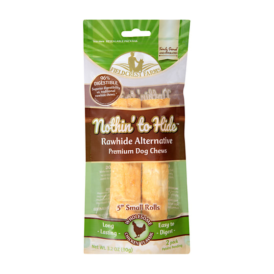 "Nothin' to Hide - Chicken 5"" Roll Dog Chews (2 pack)"